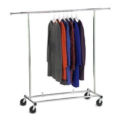 Product Image for Commercial Grade Portable & Folding Adjustable Garment Rack 1 out of 3