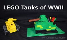 While studying World War II, my kids built some LEGO tanks! They also built other scenes from WWII, including the Blitzkrieg, a LEGO atomic mushroom cloud, and a concentration camp. - http://susanevans.org/blog/lego-tanks-of-world-war-ii/