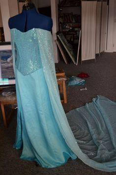 Elsa dress. Gosh this would be a fun project to work on