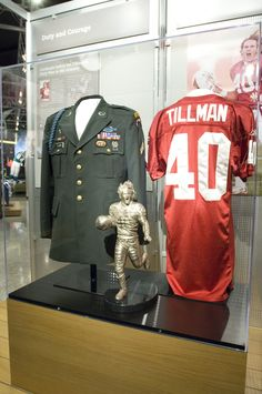 Pro Football and the American Spirit was a past exhibit at The Hall and featured Pat Tillman's Cardinals jersey and army ranger dress uniform.