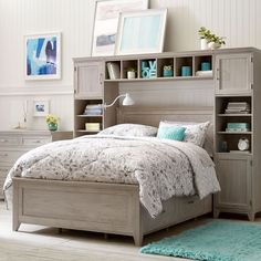 776d87b67dd Storage around bed (Potterybarn Teen - Hampton Storage Bed Super Set)   teenagegirlbedroomdiydecorations Teenage