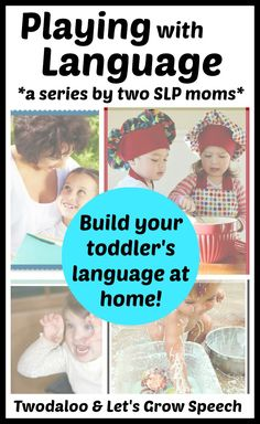 An information-packed series by two speech-language pathologist moms full of FREE tips, tricks, and ideas for stimulating language at home using activities you probably already do! A must-read for parents of toddlers! Brought to you by Let's Grow Speech and Twodaloo
