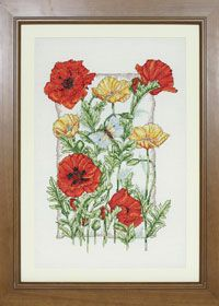 Free cross stitch chart: poppies
