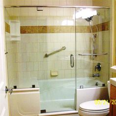 E Z Step Bathtub to Walk in Shower Conversion traditional showersBathroom Remodeling  Safe Walk in Tubs and Showers Interiorforlife  . Walk In Tub With Shower Enclosure. Home Design Ideas