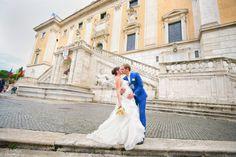 Natalia and Sergey at the Campidoglio
