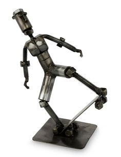 Recycled Metal Statuette from Peru