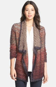 Free shipping and returns on NIC+ZOE Fuzzy Ombré Drape Front Cardigan (Nordstrom Exclusive) at Nordstrom.com. Silky-soft texture throughout enhances the softly shaded coloring and cozy appeal of a long, open-front cardigan with a drapey shawl collar and asymmetrical styling.