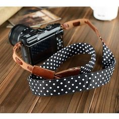 Leather+camera+strap+shoulder+straps+cotton+strap+Dot+pattern+strap+for+camera.