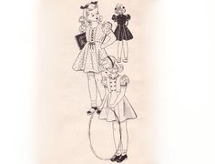 Childrens styles from the 40s