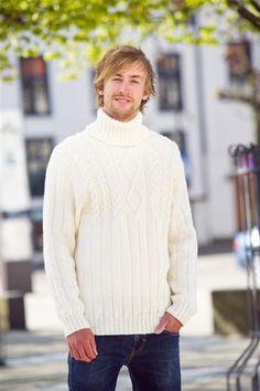 Tema 26: Modell 17 Aran genser #strikk