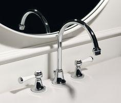 Agora 3 hole basin mixer by Zucchetti Bathroom Taps, Basin Taps, Style Classique, Basin Mixer, Interiores Design, Classic Style, Designer, Sink, Hardware