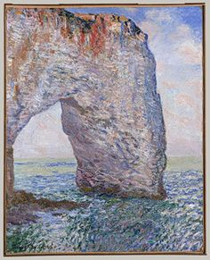 The Manneporte near Étretat, 1886  Claude Monet (French, 1840–1926)  Oil on canvas  32 x 25 3/4 in. (81.3 x 65.4 cm)  Signed and dated (lower left): Claude Monet 86