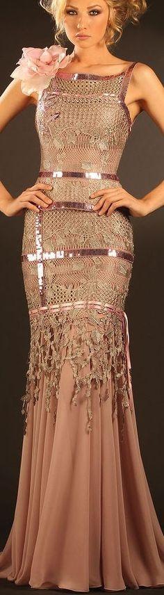 Chorrilho de ideias: Haute couture em crochet