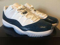 reputable site 80443 a4a65 (eBay Sponsored) Nike Air Jordan 11 Retro Low LE Blue Snakeskin CD6864-102