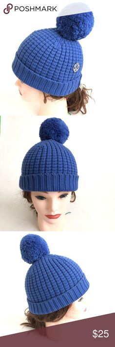 aa8082a0a1a Lululemon Beanie With Pom Pom Blue Lululemon Beanie With Pom Pom Blue Good  condition no fabric pills stains or holes lululemon athletica Accessories  Hats