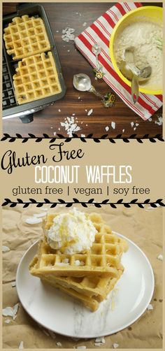Incredible gluten free and vegan coconut waffles! They taste like fried dough!
