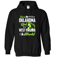 OKLAHOMA-WEST VIRGINIA Xmas 01Lime - #shirt with quotes #shirt hair. CHECK PRICE => https://www.sunfrog.com/States/OKLAHOMA-2DWEST-VIRGINIA-Xmas-01Lime-Black-Hoodie.html?68278