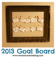 Need something to visualize your goals for the year? Try making this goal board!