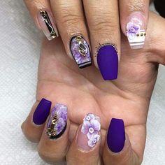Matte Purple Design