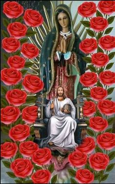 Jesus And Mary Pictures, Pictures Of Jesus Christ, Mary And Jesus, Jesus Is Lord, Royal Wallpaper, Flower Phone Wallpaper, Blessed Mother Mary, Blessed Virgin Mary, Christ The Good Shepherd