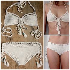 2 PDF Crochet PATTERNS Capheira Bikini Pattern por CapitanaUncino