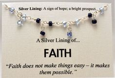 Blue Beaded Faith Necklace  Inspirational by SimpleSilverLinings