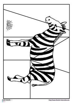 Des puzzles simples sur le thème des animaux d'Afrique.