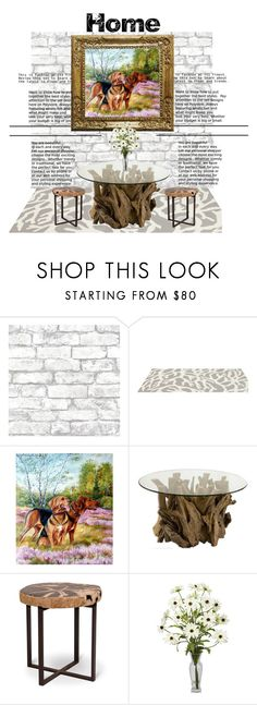 """""""Wood Home"""" by szkatulkaami ❤ liked on Polyvore featuring interior, interiors, interior design, home, home decor, interior decorating, Brewster Home Fashions, Somerset Bay, Home and StyleHome"""