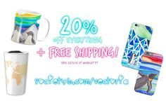 Ok you guys listen up  @Society6 is having an amazing sale right now with 20% off EVERYTHING! And it gets better - FREE SHIPPING WORLD WIDE  I've uploaded a ton of new cool stuff so visit http://ift.tt/2gC7VSa before it's too late!! (direct link in bio!)  (sale ends midnight PT)