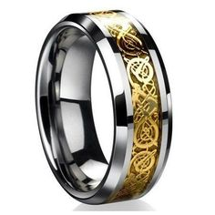 Cool Men Dragon Scale Ring Rings Jewelry Wedding Band 18K Gold 8 9 10 11 12 Gift