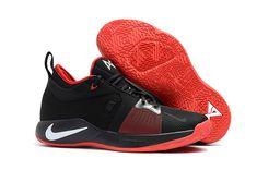 7cddaa697b5 2018 Nike PG 2 Black University Red White Basketball Sneakers For Sale Mens Basketball  Sneakers