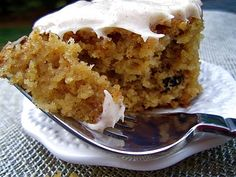 Spiced Applesauce Cake with Cinnamon Cream Cheese Frosting - I'll be making this one again!