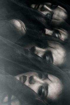 Fashion Editorial,Moody dark editorials, dark fashion, emotion, haunting, black and white, reflections, shadows .