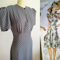 1940s reproduction dress by sewdecadesago