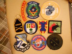 10 DIFF MILITARY PATCHES-LOT    16