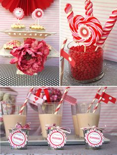 love the simple idea of using red hots to anchor the other candy.  Plus more ideas...