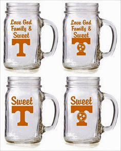 University of Tennessee Vols power T  Sweet T glasses by gdaykreations on Etsy