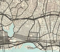 Oakland canvas print ca california vintage map oakland ca city oakland ca canvas print ca california vintage map oakland city horizontal wall art vintage map oakland extra long large oversized poster map publicscrutiny Image collections