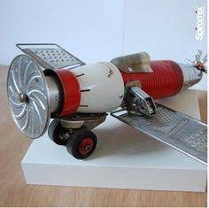 Objet déco design recyclé - Aerospatiale - Animaux - Divers - Lampes - Personnages - Robots...