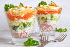 Салат-коктейль Ветчина с сыром - рецепт с фото