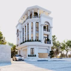 Residential Building Design, Home Building Design, House Outside Design, House Front Design, Neoclassical Architecture, Facade Architecture, Bungalows, Townhouse Exterior, Philippine Houses