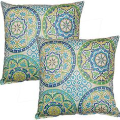 Color Wheel Capri 17-inch Throw Pillows (Set of 2) | Overstock™ Shopping - Great Deals on Throw Pillows