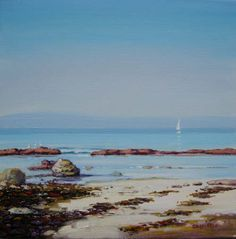 'Lone yacht off Cumbrae' by Ed Hunter, £550