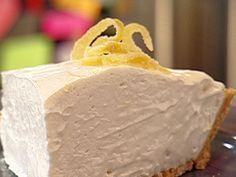 Frozen Lemonade Pie Recipe : Patrick and Gina Neely : Recipes : Food Network Mini Desserts, Frozen Desserts, Frozen Treats, Just Desserts, Delicious Desserts, Yummy Food, Frozen Pies, Healthy Food, Weight Watcher Desserts