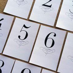 Free wedding-table-numbers designcorral.com #wedding #printables #tablenumbers