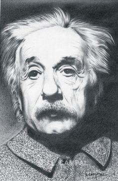 Albert Einstein. Colección retratos a lápiz. Año 1960