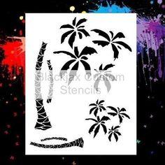 Palm Trees 02 Airbrush Stencil Template | eBay