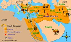 Map of the Greek empire Bible Study Notebook, Bible Study Guide, Online Bible Study, Scripture Study, Study Guides, Exodus Bible, Kids Church Lessons, Bible Mapping, Hebrew School