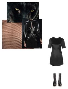 """blacker than black"" by brieley ❤ liked on Polyvore featuring Topshop and Alexander McQueen"