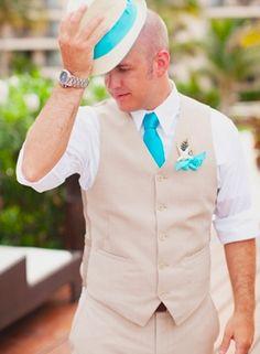 accessories (groom's), ties, boutonniere, groom, suits, polkadot, peacock, hats, Summer, elegant